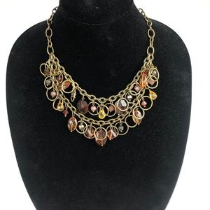 Premier Designs Brass Plated Bead Necklace